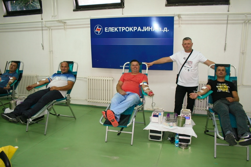 """Радници """"Електрокрајине"""" дали 75 доза крви"""